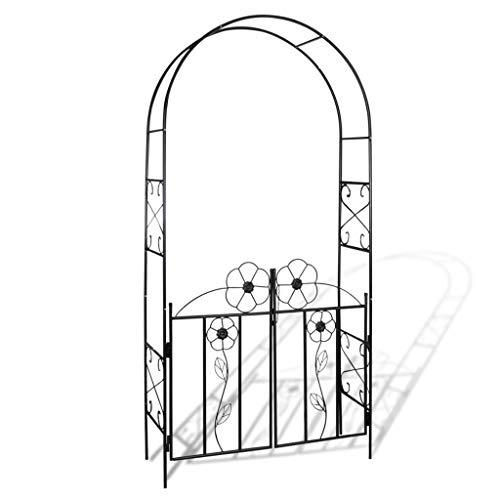 vidaXL Arco da Giardino con Cancello Fiori Rose Piante Rampicanti Pergolato Casa e giardino