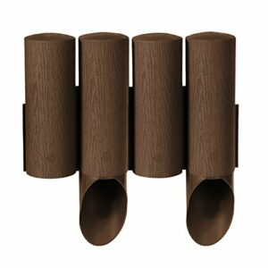Cellfast Standard 4 palizzata del giardino marrone/grafite. Altezza: 25,5 cm – Lunghezza: 2,3 m (marrone) Casa e giardino