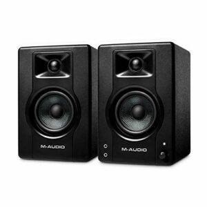 M-Audio BX3 – Casse amplificate da 120 W da tavolo – Monitor da studio per gaming, produzione musicale, streaming e… Monitor da studio