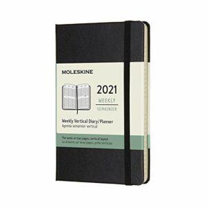 Dove acquistare Moleskine – Agenda Settimanale 2021, Agenda Settimanale 12 Mesi con Layout Verticale, Weekly Vertical Planner, Copertina Rigida, Formato POCKET 9 x 14 cm, Colore Nero, 144 Pagine