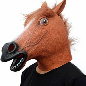 CreepyParty Maschera Cavallo Maschere per Animale in Lattice Realistico per Halloween Carnevale Festa in Costume Parata Offerte e sconti