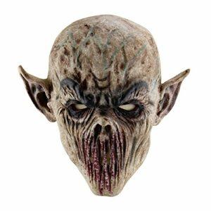 Qlan Maschera della Testa dell'animale del Lattice della Maschera di Halloween Horror Halloween per Le Decorazioni del Costume del Partito di Halloween Offerte e sconti