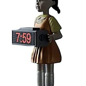 Sveglia Squid Game Bambola 1 2 3 Stella Suono Originale Da Comodino Digitale Spara Offerte e sconti