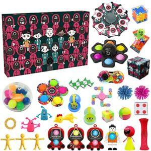 Squid Game 2021 Calendario dell'Avvento per bambini, Halloween Natale Fidget Calendario dell'Avvento Pop Fidget Toy Confezione regalo per ragazzi e ragazze Offerte e sconti