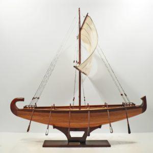 Handgefertigtes Schiffsmodell aus Holz des Aegypten Bootes