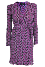 Wrapdress Missoni Style purple