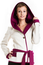 Wrap-around Jacket Mona white/pink
