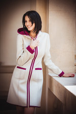 Coat Leia white/pink