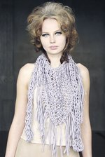 Chunky cotton triangle fringe scarf