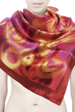 Brown Ripples Silk Scarf