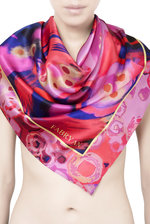 Luxury Foxglove Silk Scarf