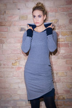 Hoodie Dress Buthan Light-Grey