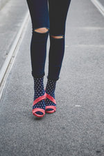 NAVY DOTTY Socks