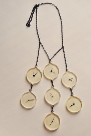 Watch universal time necklace