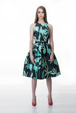 Strapless Gown/green floral
