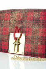 Unchain My Heart - Red Tartan Printed