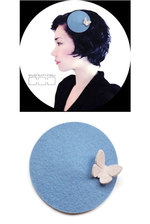 Hat Disc - Lightblue & Butterfly White M
