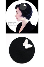 Hat Disc - Black & Butterfly White M