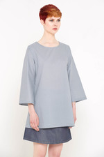 Dona Tunic Top (Small Blue Diamonds)