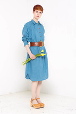 Hettie Shirt Dress (Blue)