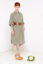 Hettie Shirt Dress (Olive)