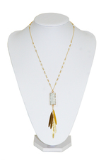 CaeliNYC Bless Druzy Long Necklace