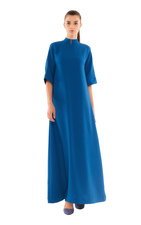 Long evening dress in electic blue color