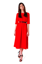 Chic midi red dress