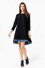 Stylish black flare dress