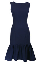Black Starla Midi Dress - Blue