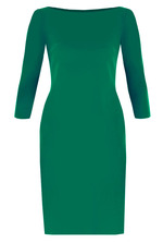 Juliette Basic Sheath Dress - Lush Meadow Green