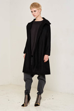 Ida Coat (Black) Made of 100% Rescue Sheep Wool