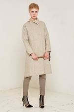 Ida Coat (Beige) Made out of: 100% Rescue Sheep Wool