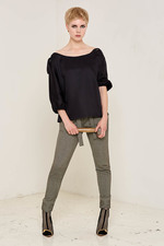Shirley Top (Black) Made out of: 100 % Certified Organic Bamboo Silk