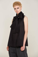 Eda Blouse with Bow (Black) Made Out of: 100% Certified Organic Bamboo Silk