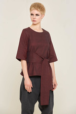 Alvina Top (Burgundy) Made out of: 100% Certified Organic Cotton