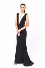 Chic and classical long black dress