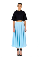 Beautiful midi skirt in sky blue color