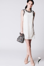 Cream lace dress GIUSEPPINA
