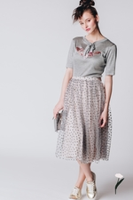 Grey t-shirt with patchwork ADA