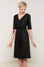 Antonia Wrap Dress (Black)