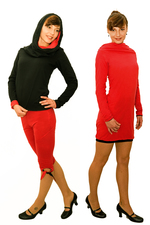 4inONE ORIGINAL PULLOVER DRESS RED