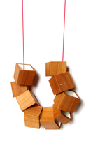 Necklace Cubi Beech