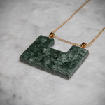 Natural Stone necklace - green