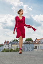 WRAP DRESS STRONG RED
