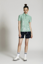 Mint polo top GISELLE