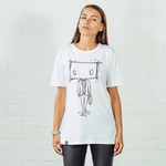 BOXMAN White Bamboo & Organic Cotton T-shirt