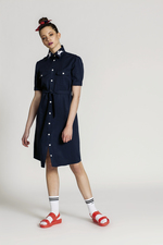 Shirt dress with embroidery SIMONE