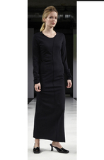 JERSEY GOWN LONG BLACK