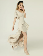 JUANITA DRESS - LIGHT BEIGE